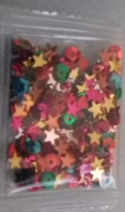 Rainbow mix sequin / confetti x 2 packets